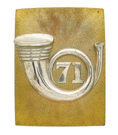 British; 71st (Highland) (Light Infantry), Officer's Shoulder Belt Plate, 1841-81(became 1st Battalion Highland Light Infantry).