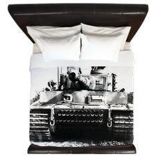 Awesome German Tiger Tank Photo King Duvet