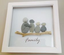 CORNISH BEACH PEBBLE DRIFTWOOD ART PICTURE - CAN BE PERSONALISED http://abnb.me/e/1Bw4yfnlSC