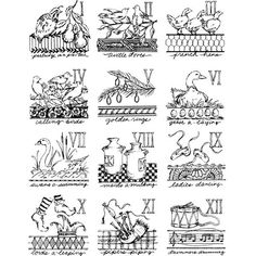 Days of Christmas - 2 cubes Wood Mounted Stamp by Michelle Ward - Stampington