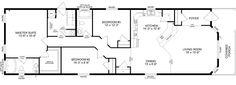 The Allentown- Best Buy Homes Mobile Home Floor Plans, Modular Home Floor Plans, House Floor Plans, Plan Canada, Western Canada, Modular Homes, Cool Things To Buy, The Unit, Flooring