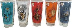 Mid-Century Rx Glasses - Set of 5 on Chairish.com