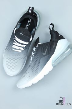 free shipping 8d28b bc23c CUSTOM NIKE AIR MAX BLACK AND WHITE OMBRE 270 s