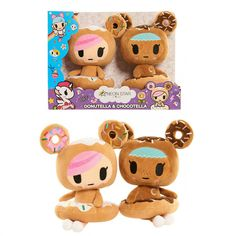 Neon Star by Tokidoki 2 Pack Plush Figures - Donutella & Chocolate by Just Play Designed by Simone Legno  - #63035
