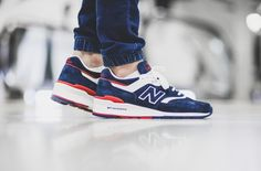 The New Balance 997 Navy / Red Is As Clean As It Gets http://SneakersCartel.com #sneakers #shoes #kicks #jordan #lebron #nba #nike #adidas #reebok #airjordan #sneakerhead #fashion #sneakerscartel Check more at http://www.SneakersCartel.com
