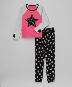 Look what I found on #zulily! Pink Sequin Star Tee & Leggings - Infant, Toddler & Girls #zulilyfinds