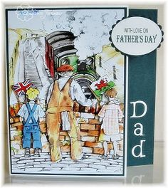 For My Dad My Dad loves trains and steam engines so thought this Remember When image from La Pashe was absolutely perfect for him. Little Man, My Dad, Making Ideas, Fathers Day, Dads, Card Making, Wine, Baseball Cards, Summer
