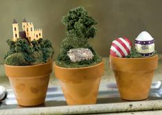 How to use a flower pot to make these super cute dioramas!