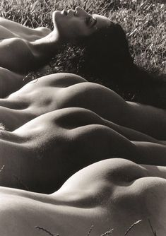 Lucien Clergue, Four nudes, Tuscany, Italy (1993)