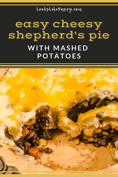 Easy Cheesy Shepherd's Pie with Mashed Potatoes | If you are looking for a hearty, delicious dinner the whole family will love, this is it!   #dinner #shepherdspie