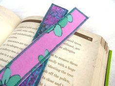 Cotton Bookmark jade green bubblegum #pink by eyespotdesigns, $8.00