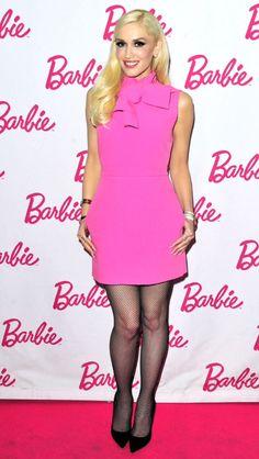 Gwen Stefani in MSGM attends the Barbie Launch Party. Gwen Stefani Mode, Gwen Stefani And Blake, Gwen Stefani Style, Buy Dress, Pink Dress, Peplum Dress, Bodycon Dress, Selena, Gwen And Blake