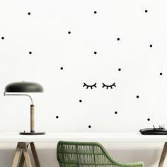 Wandtattoos - Sleepy Eyes Wandsticker Wimpern - ein Designerstück von lovelybird bei DaWanda