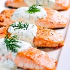 Cooking With Karyn: Grilled Salmon with Yogurt Dill Sauce Cucumber Dill Sauce, Dill Sauce For Salmon, Lemon Salmon, Salmon Pasta, Salmon Dinner, Grilled Shrimp, Grilled Salmon, Baked Salmon, Healthy Foods