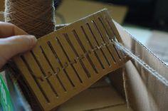 Cardboard Box Looms: DIY Weaving at it's finest! |