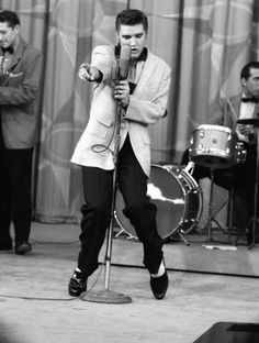 Elvis gyrating. I remember that Ed Sullivan told him he couldn't make these moves on national television. He did and got banned!