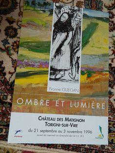 french poster . AFFICHE exposition Yvonne par vintagemadeinFRANCE