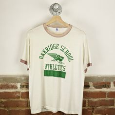 e74d03f4 Vintage 80s Oakridge High School Athletics T-Shirt Height: 26 Width: 19.5 -