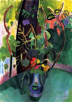 Flowers in a Vase, 1906-1907, by Raoul Dufy (French, 1877-1953).