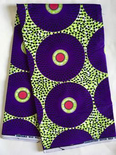 A personal favorite from my Etsy shop https://www.etsy.com/listing/495609520/african-print-fabricankara-green-purple