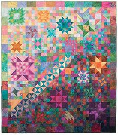 Stars Over Bali Skies Block of the Month - Stitchin' Heaven is your premier Texas quilt shop