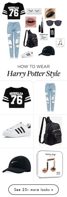 """Cool Look"" by xxlottiexx5 on Polyvore featuring Boohoo, Topshop, adidas, Givenchy, Yves Saint Laurent and NIKE"