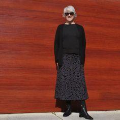 Mum's Alabama Chanin skirt - Handmade by Carolyn