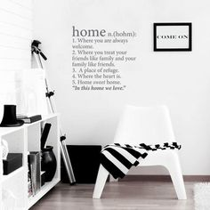 Home Definition Wall Decal – Dark Grey from Winter Mystic Decals - (Save Friends Like Family, Pavement Art, Vinyl Wall Decals, Teamwork, Black And White, Dark Grey, A Team, Fashion Online, Sweet Home
