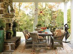 Outdoor living room by Steve McKenzie. Atlanta Homes & Lifestyles.