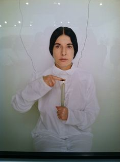 The Armory Show, 3/2013 - Marina Abramovic, Artist Portrait with a Candle (C), C Print, 2013.