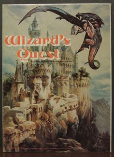 Wizard's Quest Dragons Strategy RPG 1979 2-6 players Avalon Hill D&D adventure  #AvalonHill