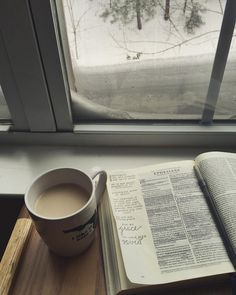 "Give me my opened Bible and a mug of fresh hot coffee and I will be in my ""HAPPY PLACE""!"