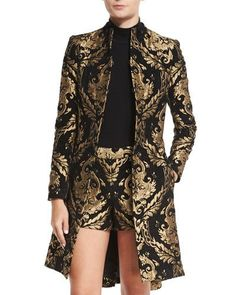 Shop raye baroque embroidered coat from Alice Olivia in our fashion directory. Alice Olivia, Look Fashion, Womens Fashion, Fashion Design, Neiman Marcus, Coats For Women, Jackets For Women, Women's Jackets, Classy Outfits