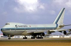 Eastern Airlines Boeing 747-121; Eastern's 747 fleet was leased by Pan Am from 1970-1972 while waiting for the deliveries of other widebodied aircraft, i.e. the Lockheed L-1011 TriStar