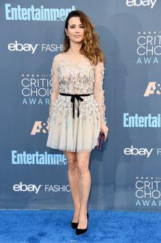"hollywood-fashion: ""Linda Cardellini in Paolo Sebastian Couture at the 2016 Critics Choice Awards. "" Linda Cardellini is amazing"