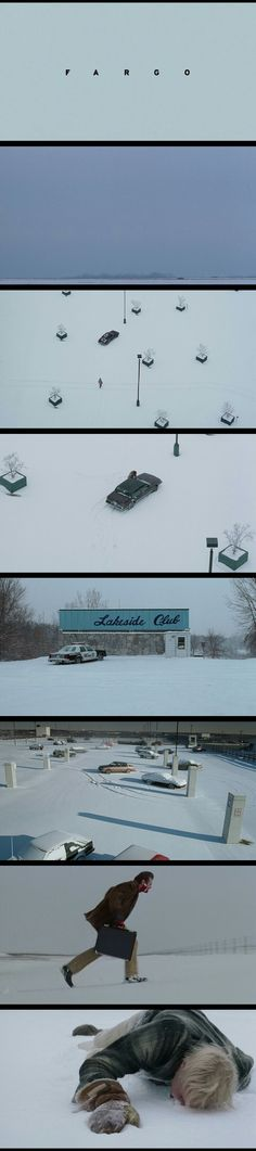 Fargo(1996). Cinematography by Roger Deakins.