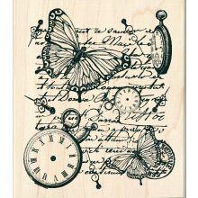 Inkadinkado Time Flies Collage Stamp