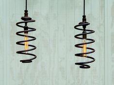 Suspension lampes industrielles paire de par TinkerLighting