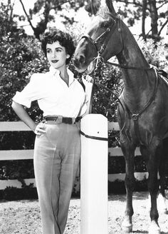 viviensleigh:  Elizabeth Taylor on the set of The Girl Who Had Everything (1953)