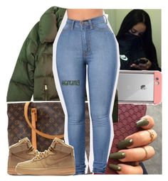 """"""""""" by lamamig ❤ liked on Polyvore featuring LifeProof, Zara, Louis Vuitton and NIKE"""