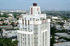 #ArtDeco   Sunset Tower Hotel, Sunset Boulevard, Los Angeles. Designed by Leland A. Bryant, 1931.