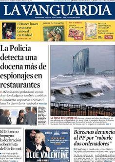 Los Titulares y Portadas de Noticias Destacadas Españolas del 2 de Marzo de 2013 del Diario La Vanguardia ¿Que le parecio esta Portada de este Diario Español?