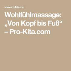 """Wohlfühlmassage: """"Von Kopf bis Fuß"""" – Pro-Kita.com"""