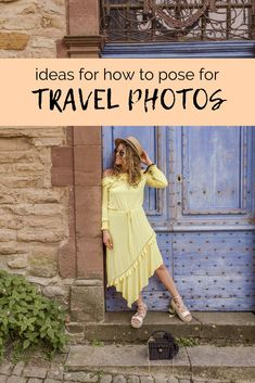 How to Pose in Travel Photos Naturally and Creatively - FashionEdible Do you feel awkward posing for photos? These tricks and tips will help you gain the confidence you need to learn how to pose for photos naturally! Travel Pictures Poses, Poses For Pictures, Travel Photos, Poses Photo, Picture Poses, Photo Tips, Photography Poses, Amazing Photography, Landscape Photography
