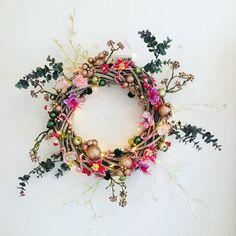 My stuff// DIY - Christmas wreath - jul - decor - christmas decor - paperflowers - wreath - skidtogkanel - kirstine kirk