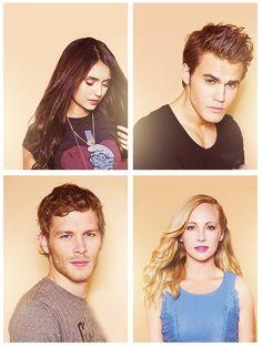I wish I was Elena/Caroline. Imagine getting Damon, Stefan, and Klaus. Lucky them.