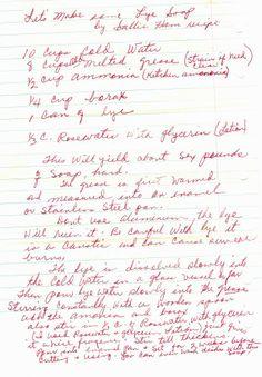 Old fashioned lye soap recipe