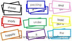 Montessori Farm Game Labels - Printable Montessori Grammar Materials for Montessori Learning at home and school.