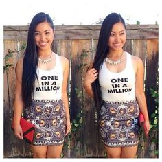 @mallory gayo is gorgeous in our #Supercolour #OneInAMillion #Tank and #Rottweiler #Skirt available now at www.shopsupercolour.com