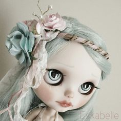 Blythe doll mori style hair corsage garland hairband by Eskabelle